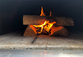 Wood in Wood Fired oven